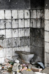 Old dilapidated building interior, urbex. Old dilapidated building interior, urbex.