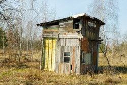 old, dilapidated house, abandoned house in poor condition