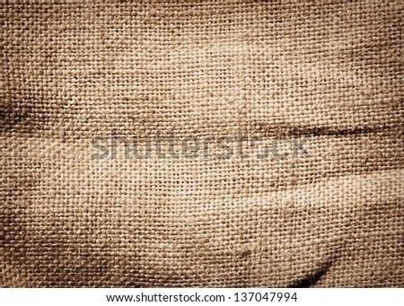 Old dirty burlap texture