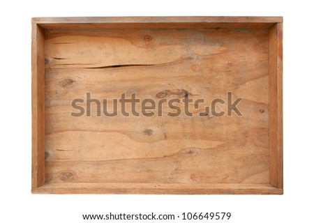 old dirty empty wooden  box