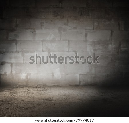 old dirty room, grungy background