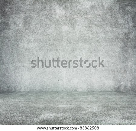 old dirty room with concrete wall, urban background