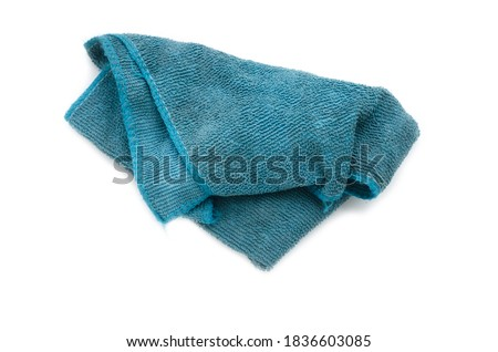 Old dirty torn rag isolated on white background. Cleaning rag. Foto stock ©
