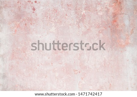 Old distressed pink wall, grungy background or texture  #1471742417