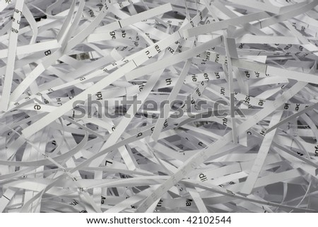 Old documents can be shredded and recycled again.