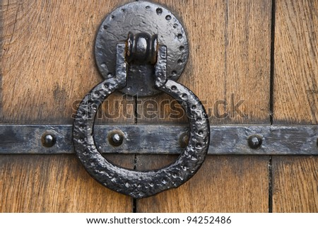 Old door handle from the Cathedral at Viborg, Denmark