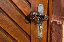 old door handle of a chapel