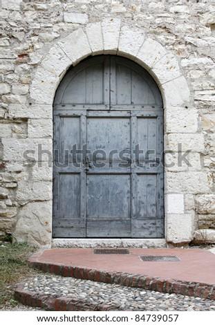 old door in a castle