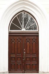 Old door in Tallin, Estonia