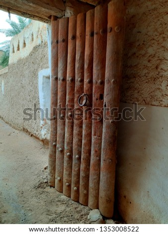 old door in the old city fo ghadames