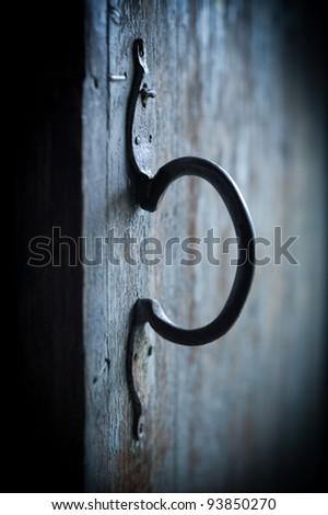 old door knob forged metal