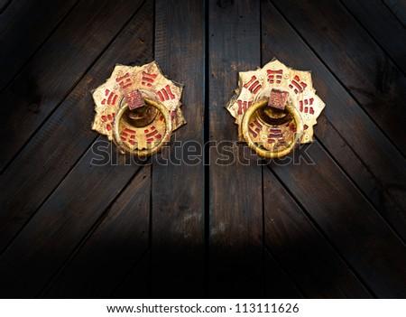 Old door knocker of a garage