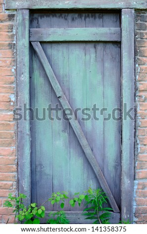 Old door of old house