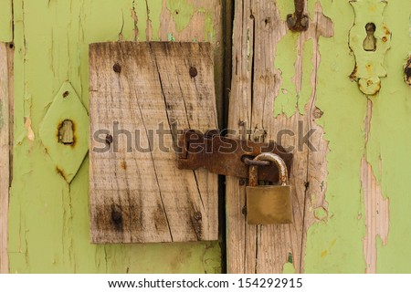 Old door with keyhole background
