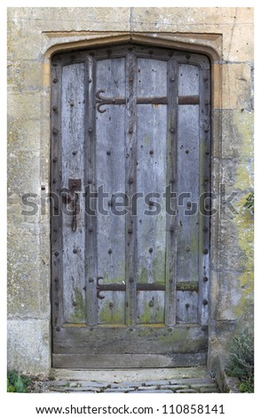 Old doorway, Cotswolds, Chipping Campden, Gloucestershire, England