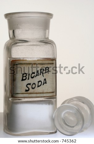 Old drug store bottle of Bicarb. Soda.
