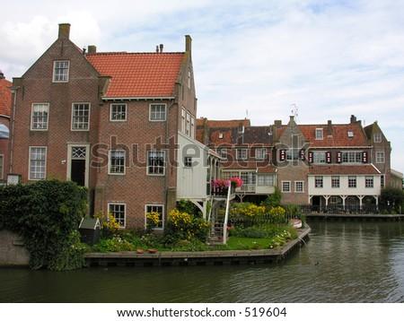 Old Dutch Houses In Enkhuizen Ez Canvas