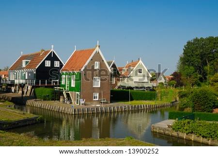Old Dutch Houses In Marken A Small Village Near Amsterdam Ez Canvas