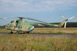 Old East German helicopter in Gatow (Germany)