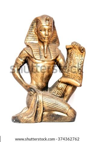 old Egyptian pharaoh Statue Stock photo ©