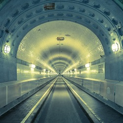Old Elb Tunnel in Hamburg St. Paul Germany