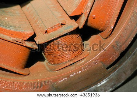 Old electric motor in the repair shop stock photo 43651936 for Electric motor repair shops