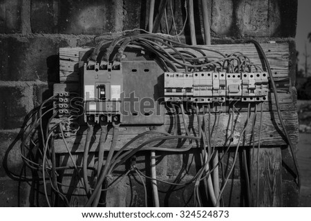 old electrical distribution...