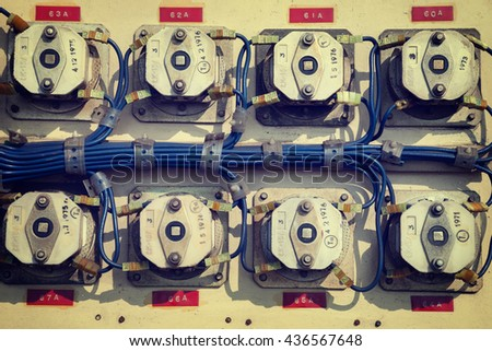 old electrical metal control...