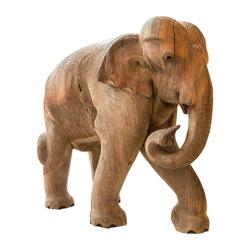 Old elephant model on isolated background