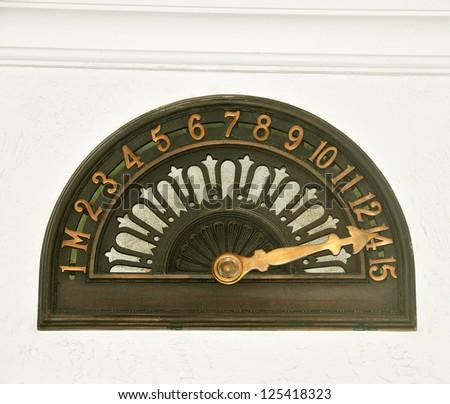 Old Elevator Floor Indicator