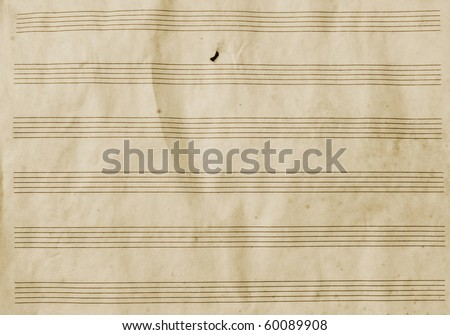 Old empty music paper
