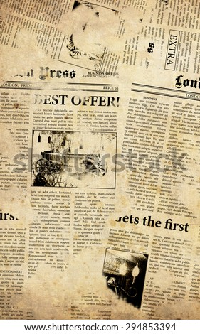 Old english newspapers background