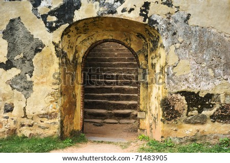 Old entrance in ancient Sri Lanka fort