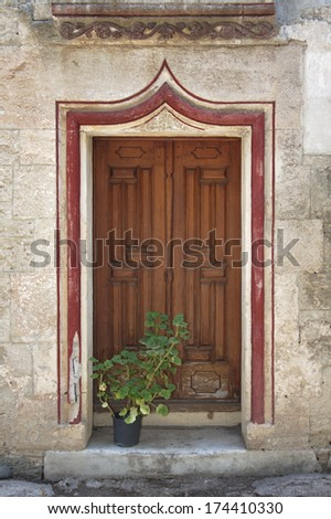 old entrance of a house in Bodrum Turkey