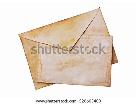 old envelope and blank paper...