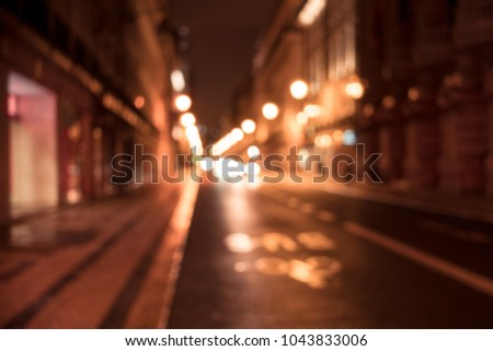 Old european city night street defocused blurred abstract image #1043833006
