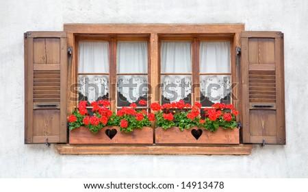 Old European Wooden Windows
