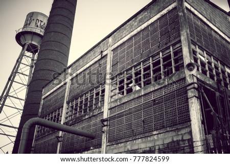 Old factory abandoned in Maringá, Paraná, Brazil, 2017