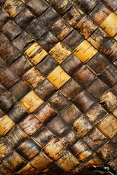 old faded traditional birch bark weaving texture