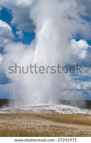 Old Faithful erupting, Yellowstone National Park, Wyoming