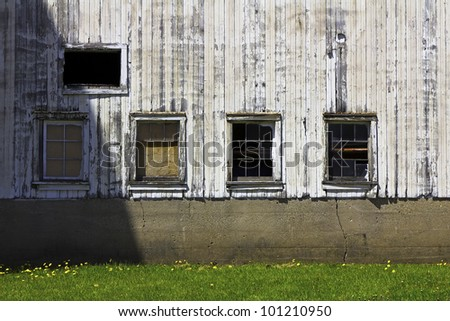 Old Farm Bacground With Windows