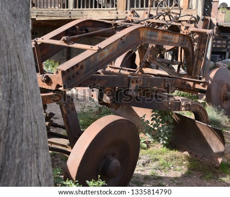Old farm equipment used around the Arizona desert