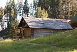 Old Farm House in Rural Landscape