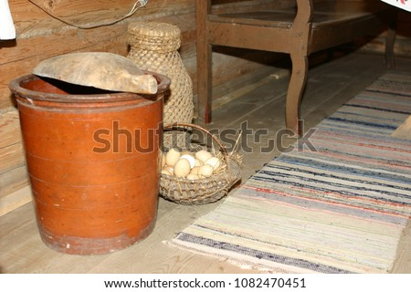Old Farm House Interior Element 1082470451