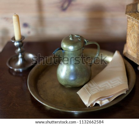 Old Farm House Interior Traditional Russian Estate 1132662584