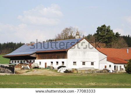 Old farm house with innovative photovoltaic system