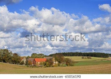 Old farm in the federal state Mecklenburg-Vorpommern (Germany) near the river Oder.