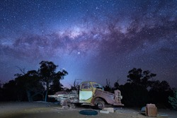 Old Farm Truck final resting place under the Milky Way