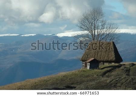 Old farmer's wooden house in Transylvania, Romania