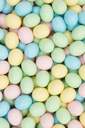 Old fashion pale multi colored Easter egg background